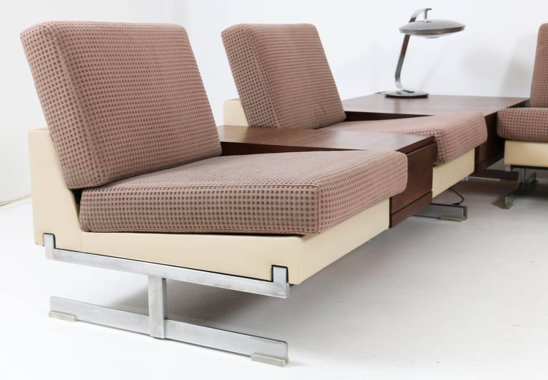 Mid-20th Century Mid-Century Modern Pluraform Sofas with Wenge Coffee Tables by Rolf Benz, 1964 For Sale