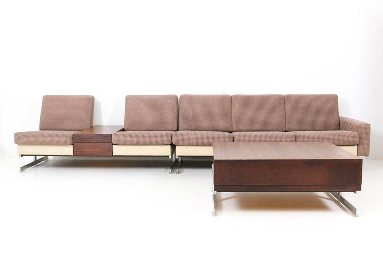Mid-Century Modern Pluraform Sofas with Wenge Coffee Tables by Rolf Benz, 1964 For Sale 1