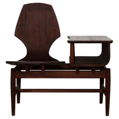 Mid-Century Modern Plycraft Bentwood Telephone Gossip Table and Side Chair