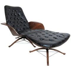 Mid-Century Modern Plycraft Chair and Ottoman