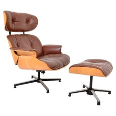 Mid-Century Modern Plycraft Eames 670/71 Lounge Chair Recliner and Ottoman 1960s