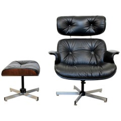 Mid-Century Modern Plycraft Lounge Chair and Ottoman Eames Herman Miller Style