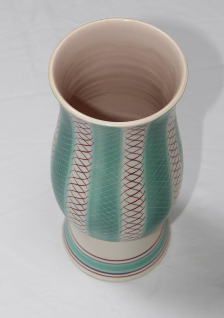 Mid-Century Modern Poole Pottery Vase In Good Condition For Sale In New York City, NY