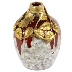 Mid-Century Modern Porcelain/Gilt Dore Vase