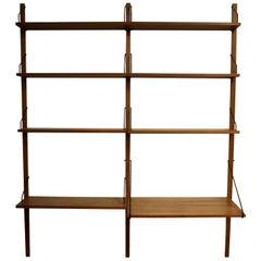 Mid-Century Modern Poul Cadovious Danish Wall Unit Bookshelf Scandinavian, 1960s