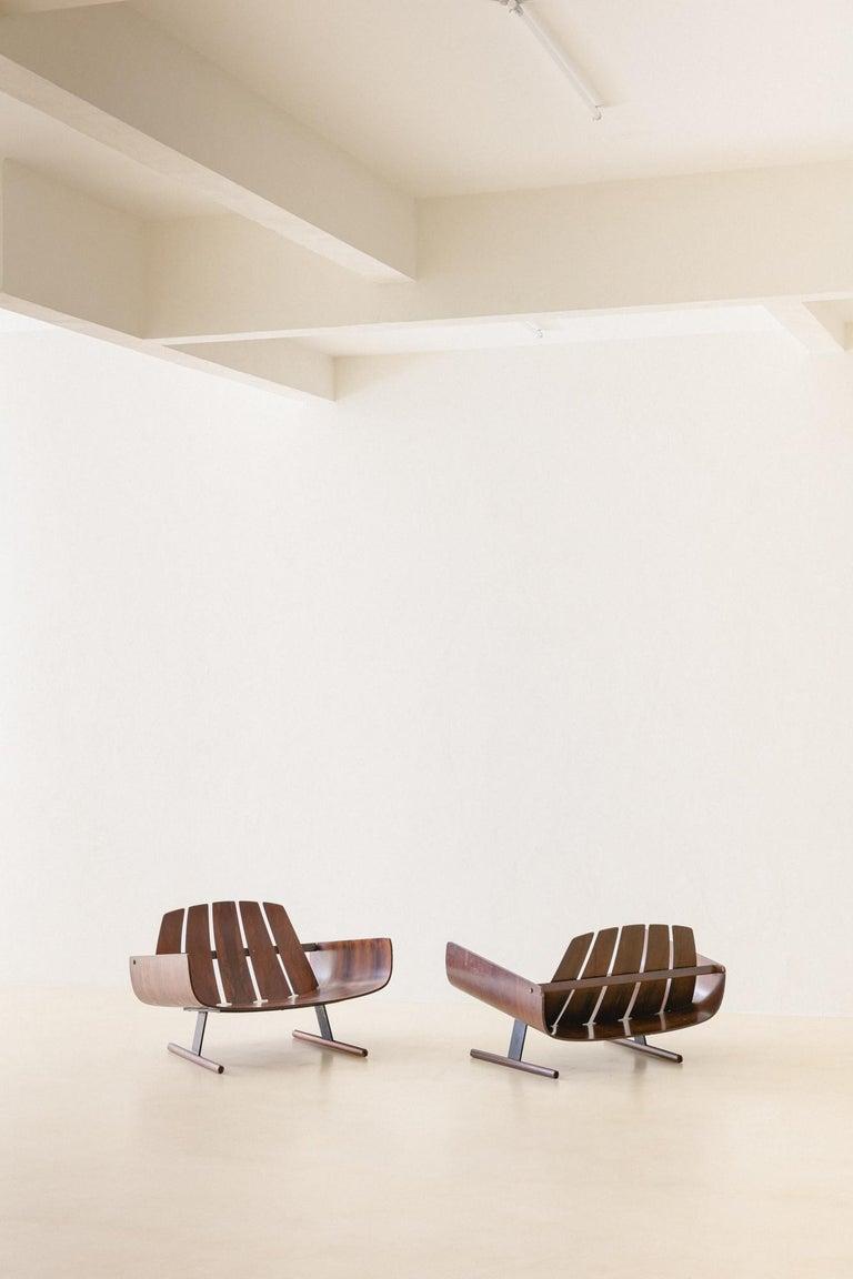 Mid-Century Modern Presidencial Armchair by Brazilian Designer Jorge Zalszupin For Sale 5