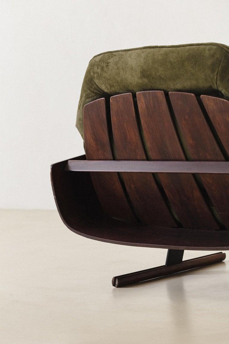 Mid-Century Modern Presidencial Armchair by Brazilian Designer Jorge Zalszupin For Sale 1