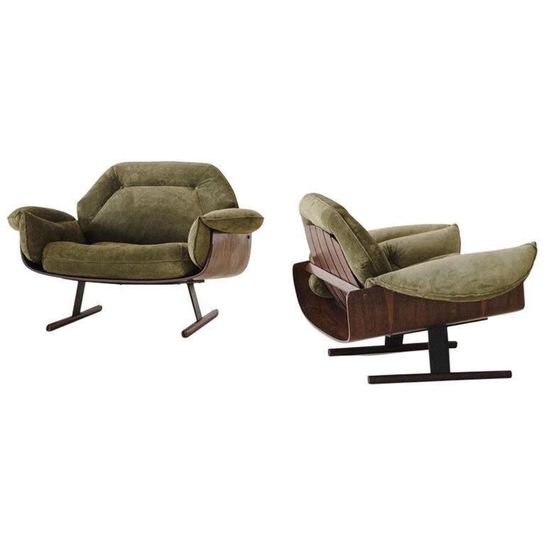 Mid-Century Modern Presidencial Armchair by Brazilian Designer Jorge Zalszupin For Sale