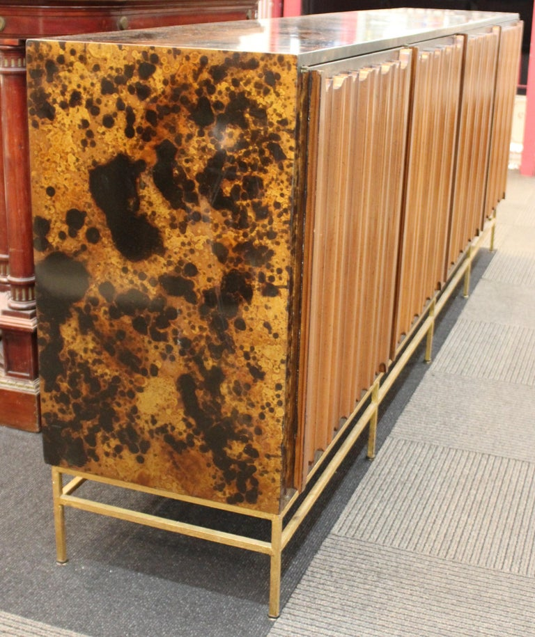 20th Century Mid-Century Modern Probber Style Credenza with Tortoiseshell Finish For Sale