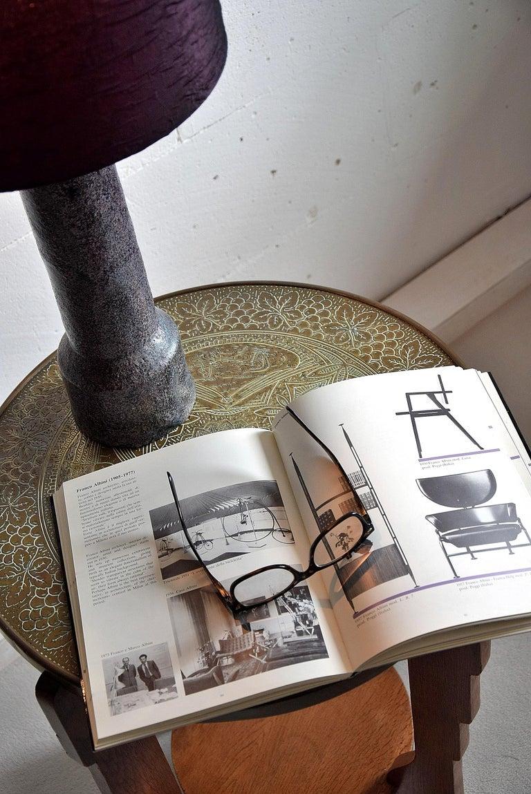 Mid-Century Modern Purple Ceramic Table Lamp by Pieter Groeneveldt For Sale 6