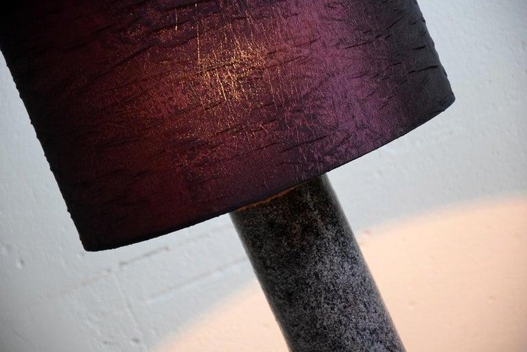 Late 20th Century Mid-Century Modern Purple Ceramic Table Lamp by Pieter Groeneveldt For Sale