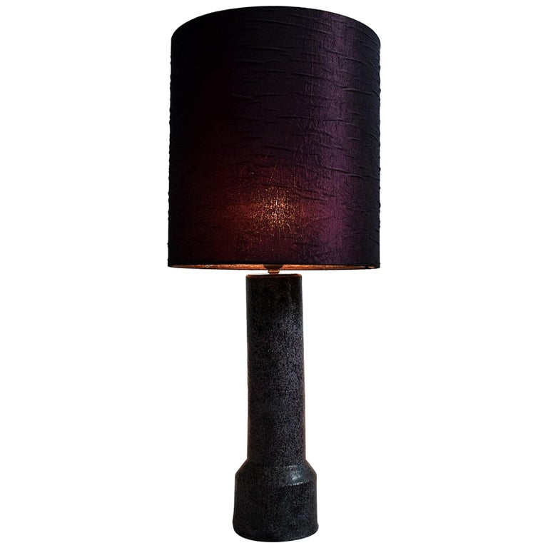 Mid-Century Modern Purple Ceramic Table Lamp by Pieter Groeneveldt For Sale
