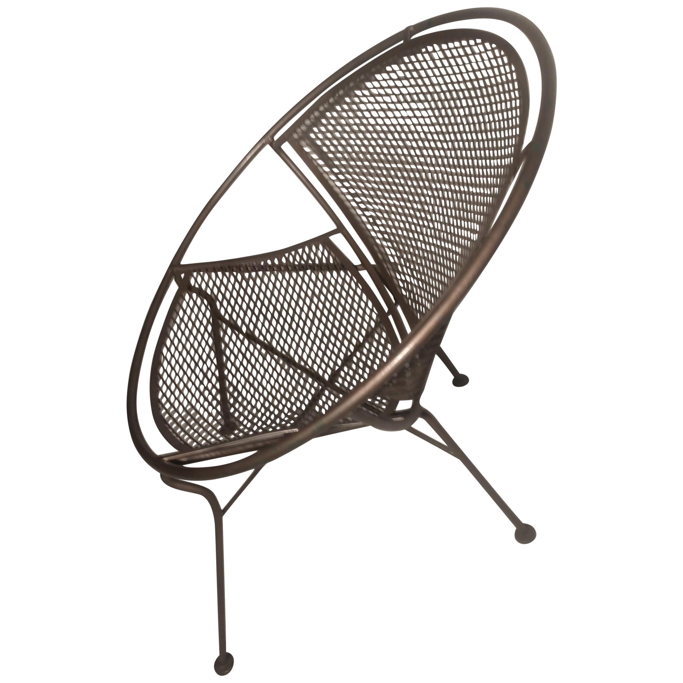 Mid-Century Modern Radar Saucer Lounge Chair by John Salterini
