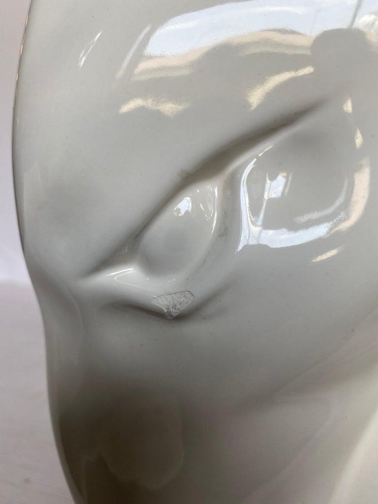 Mid-Century Modern Ram or Gazelle Head Ceramic Table Lamp For Sale 5