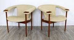 Mid Century Modern Rare Adrian Pearsall Pair of Wood Lounge Armchairs
