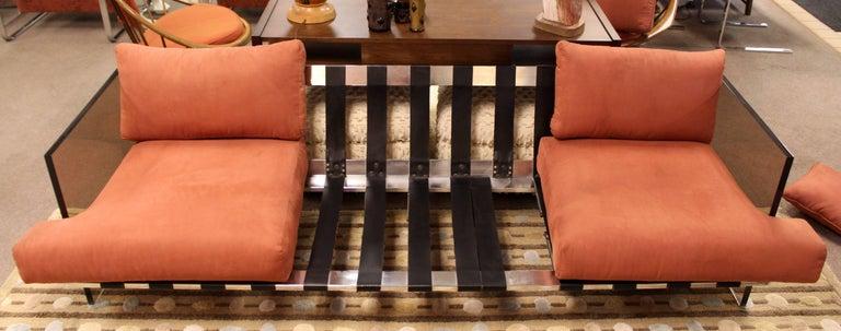 Mid-Century Modern Rare Baughman Smoked Lucite Chrome Sofa Club Chair Set, 1970s For Sale 7
