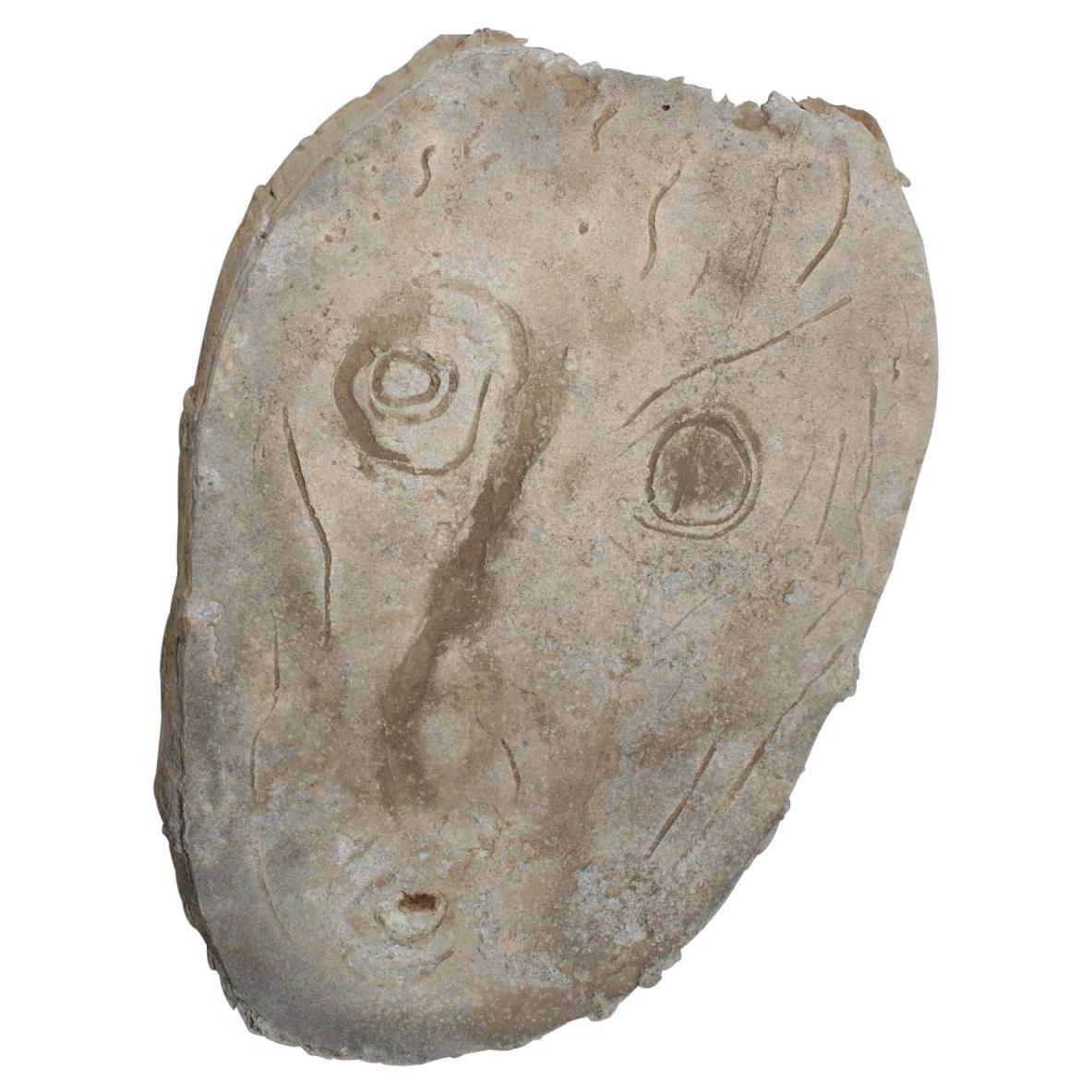 Mid-Century Modern Rare Brutalist Abstract Sculpture Figure Head in Aluminum