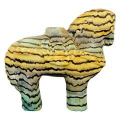 Mid-Century Modern Rare Fantoni Raymor Ceramic Horse Table Sculpture Italy 1950s