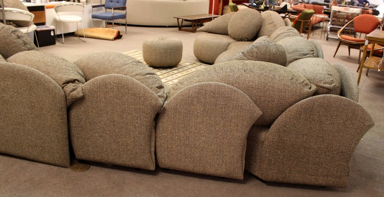 Late 20th Century Mid Century Modern Rare Large Roche Bobois Sculptural Sectional Sofa Kagan Era