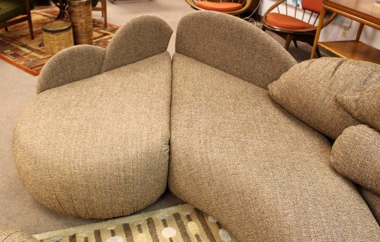 Mid Century Modern Rare Large Roche Bobois Sculptural Sectional Sofa Kagan Era 3