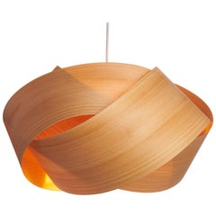 """Mid-Century Modern Rare Natural Wood 19""""  Pendant-Limited Edition"""