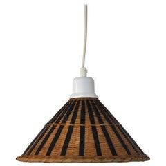 Mid-Century Modern Rattan Ceiling Lamp