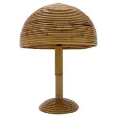 Mid-Century Modern Rattan Table Lamp