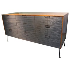 Mid-Century Modern Raymond Loewy Nine-Drawer Dresser for Mengel