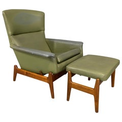 Mid-Century Modern Recliner by Folke Ohlsson for Dux in Teak