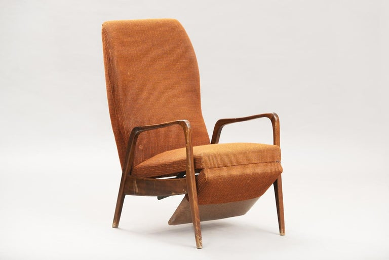 German Mid-Century Modern Reclining Chair For Sale