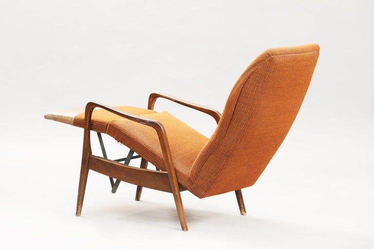 Mid-20th Century Mid-Century Modern Reclining Chair For Sale