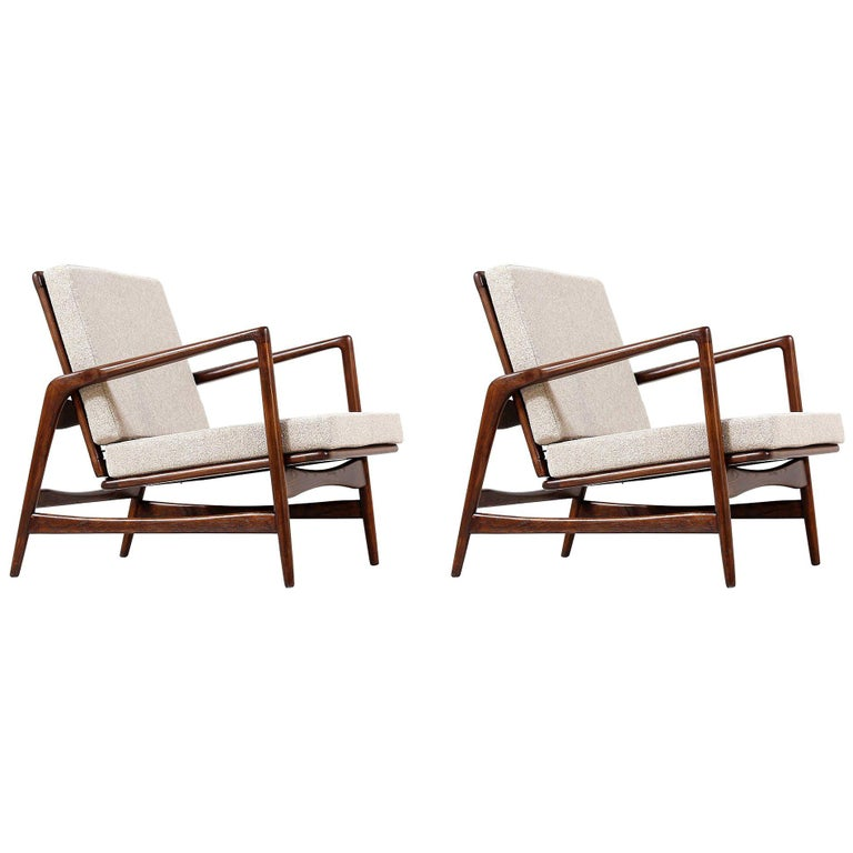 Mid-Century Modern Reclining Lounge Chairs At 1stdibs
