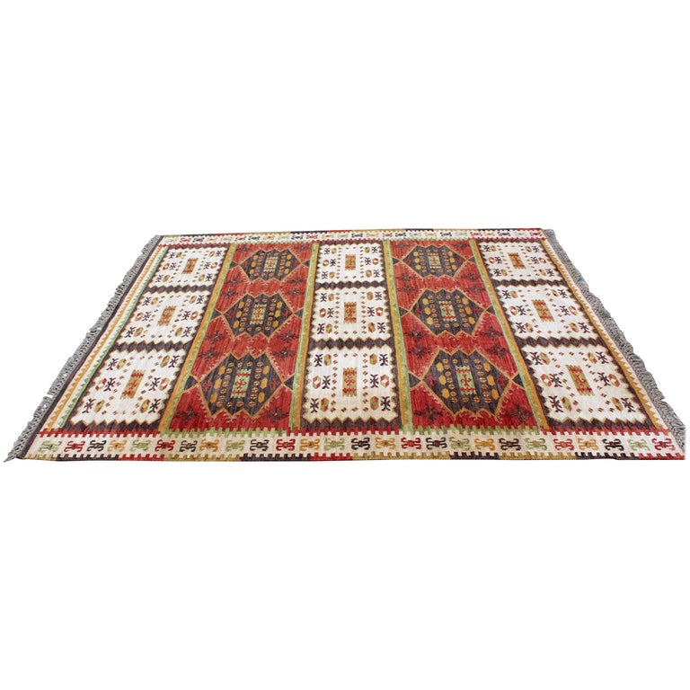 Mid 20th Century Modern Scandinavian Area Rug At 1stdibs: Mid-Century Modern Rectangular Danish Area Rug 1960s Red