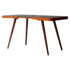 Mid-Century Modern Rectangular Oak Glass Black Centre Table Czech Republic, 1960