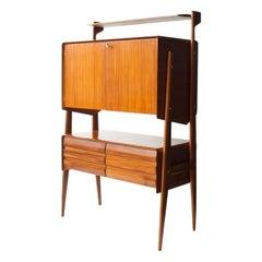 Mid-Century Modern Rectangular Oak Italian Sideboard, 1950
