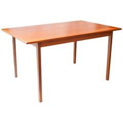 Mid-Century Modern Rectangular Teak Wood Swedish Dining Table, 1960