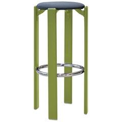 Mid-Century Modern, Rey Barstool by Bruno Rey, Arik Levy SE1 Green, Design, 1971