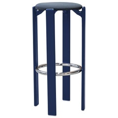 Mid-Century Modern, Rey Barstool by Bruno Rey, Color Blue, Design 1971
