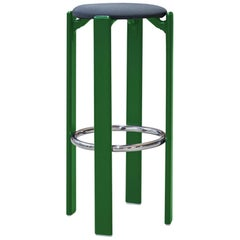 Mid-Century Modern, Rey Barstool by Bruno Rey, Color Forest Green, Design, 1971