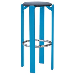 Mid-Century Modern, Rey Barstool by Bruno Rey, Color Light Blue, Design 1971