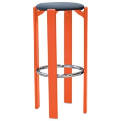 Mid-Century Modern, Rey Barstool by Bruno Rey, Color Orange, Design 1971