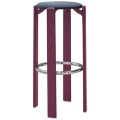 Mid-Century Modern, Rey Barstool by Bruno Rey, Color Purple, Design 1971