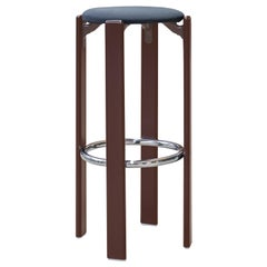 Mid-Century Modern, Rey Barstool by Bruno Rey, Color Vintage Dark Walnut, 1971