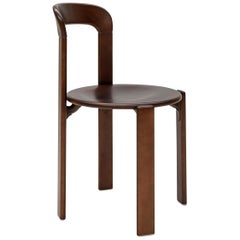 Mid-Century Modern, Rey Chair by Bruno Rey, Color Vintage Walnut, Design 1971