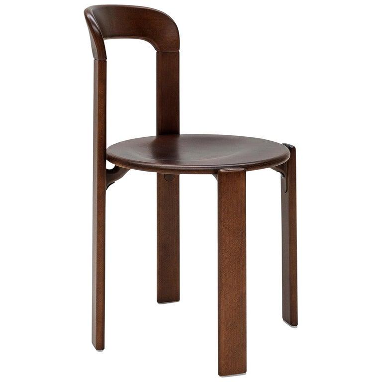 Mid-Century Modern, Rey Chair by Bruno Rey, Color Vintage Walnut, Design 1971 For Sale
