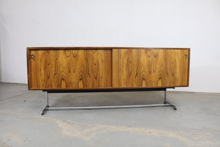 Late 20th Century Mid-Century Modern Richard Young for Merrow Associates Chrome Credenza For Sale