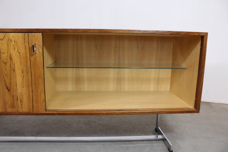 Mid-Century Modern Richard Young for Merrow Associates Chrome Credenza For Sale 1