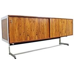 Mid-Century Modern Richard Young Merrow Associates Rosewood Chrome Credenza
