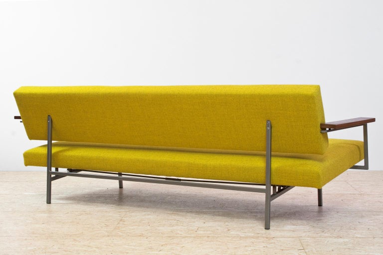 Dutch Mid-Century Modern Rob Parry Sofa 3-Seat Model Lotus 75 in Yellow, 1960s For Sale