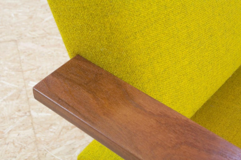 Metal Mid-Century Modern Rob Parry Sofa 3-Seat Model Lotus 75 in Yellow, 1960s For Sale